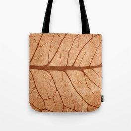 Vintage Sepia Leaf Veins Tote Bag