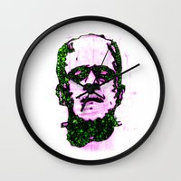 frank Wall Clocks featuring Frank by Fimbis