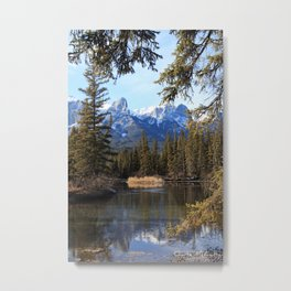Mountain View on the water. Metal Print