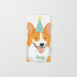 Birthday corgi Hand & Bath Towel