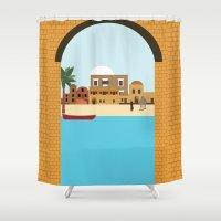 arab Shower Curtains featuring Arab city by Design4u Studio