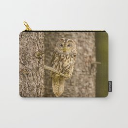 Perched Tawny Owl Carry-All Pouch