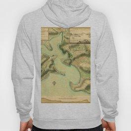 Map Of Antigua 1752 Hoody