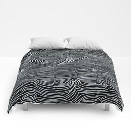 inverted brain map Comforters