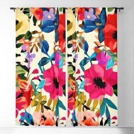 Boho Blooms Blackout Curtain