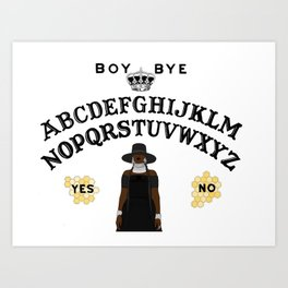 Queen Bey Ouija Board Art Print