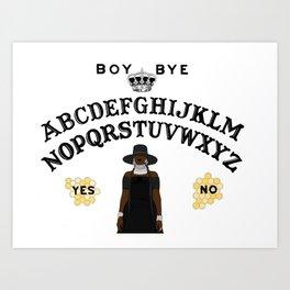 Queen Bey Ouija Board Art Print