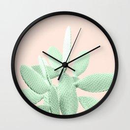 Green Blush Cactus #1 #plant #decor #art #society6 Wall Clock