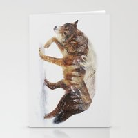quotes Stationery Cards featuring Arctic Wolf by Andreas Lie