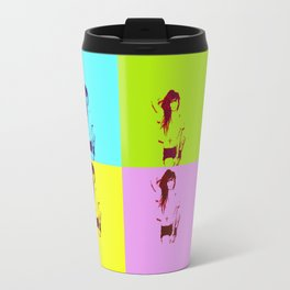Synth-Pop Art Travel Mug