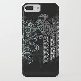 Slate Polynesian Tribal Turtle Grunge iPhone Case