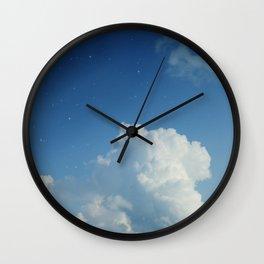 Cumulonimbus Clouds and Stars Wall Clock