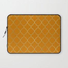 Turmeric Yellow & Gold Quatrefoil Laptop Sleeve
