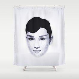 Audrey Hepburn | Polygon Art Shower Curtain