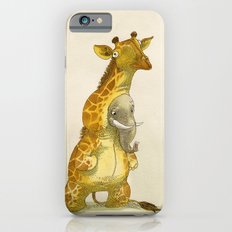 Elephant in a giraffe costume iPhone 6 Slim Case