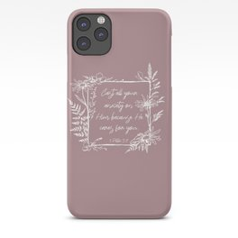 Cast Your Anxiety Wildflower Frame Bible Verse iPhone Case