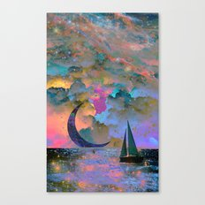Moonset Canvas Print