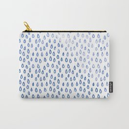 Blue Shimmer Raindrops Carry-All Pouch