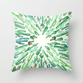 cactus center Throw Pillow
