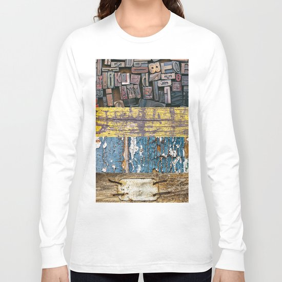 patchwork 5 wood Long Sleeve T-shirt