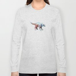 Triceratops / Abstract animal portrait. Long Sleeve T-shirt