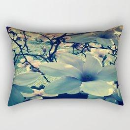Magnolias flowering Rectangular Pillow