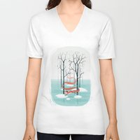 freeminds V-neck T-shirts featuring Forest Spirit by Freeminds