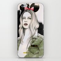 army iPhone & iPod Skins featuring Army Girl by Camis Gray