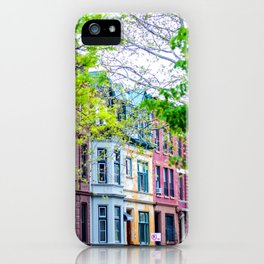 Brooklyn Rainbow Brownstones iPhone Case