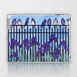 purple martins & purple irises Laptop & iPad Skin