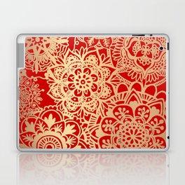 Red and Gold Mandala Pattern Laptop & iPad Skin