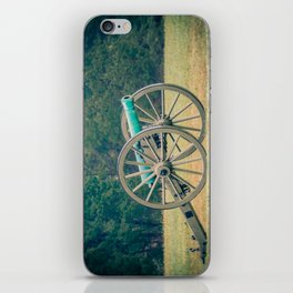 Manassas Artillery in Autumn Field Battle of Bull Run Manassas National Battlefield Park Virginia iPhone Skin