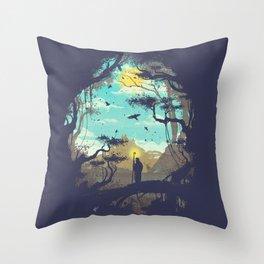 The Guardian Of The Sun Throw Pillow