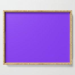 Cheap Solid Deep Aztec Purple Color Serving Tray