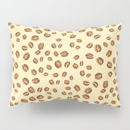 watercolor beige coffee beans pattern  Pillow Sham