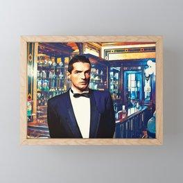 Falco at the Cafe Framed Mini Art Print