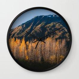 Autumn in Kenai Fjords National Park II Wall Clock
