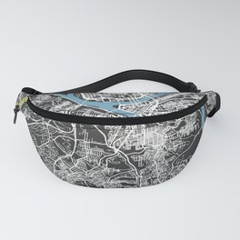 PITTSBURGH Map   Black   More Colors, Review My Collections Fanny Pack
