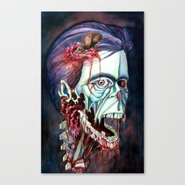 Portrait of the KING Canvas Print