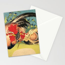 Rooster, Hen and Chicken Stationery Cards