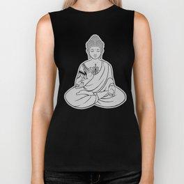 Sitting Buddha is blessing on blissful meditation Biker Tank