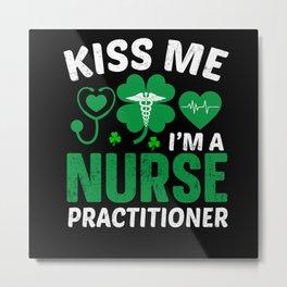 Nurse Kissing T-shirt Metal Print