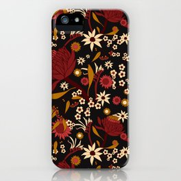 Australian Natives Red Blossom iPhone Case