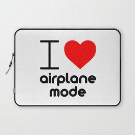 I (Heart) Airplane Mode Laptop Sleeve
