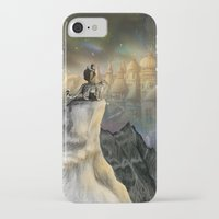 northern lights iPhone & iPod Cases featuring Northern Lights by Lyndsey Green Illustration