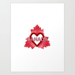 Home Sweet Canada Art Print