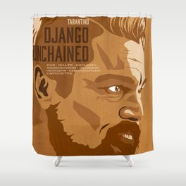 Quentin Tarantino's Plot Movers :: Django Unchained Shower Curtain