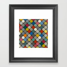 buttoned patches Framed Art Print