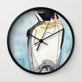 Penguin Chick Wall Clock