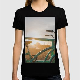 Bike & Beach in Sunny Manhattan Beach, California T-shirt